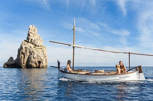 traditionele boot huren ibiza